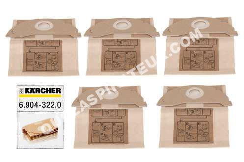aspirateur karcher sac aspirateur sac mv2 au meilleur prix. Black Bedroom Furniture Sets. Home Design Ideas